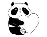 Dibuix de Amor Panda per pintar