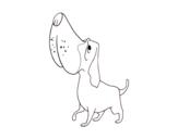 Dibuix de Basset hound per pintar