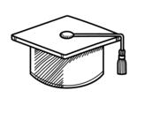 Dibuix de Birret de graduació per pintar