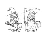 Dibuix de Broma o regal de Halloween per pintar