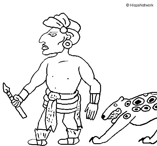 Dibuix de Caçador II per Pintar on-line