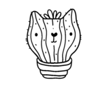 Dibuix de Cactus gat per pintar