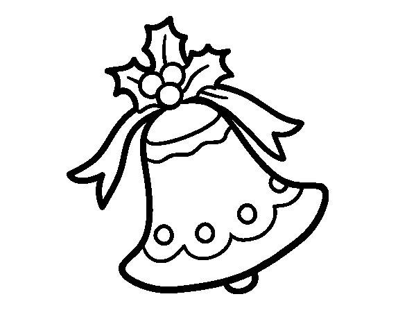Dibuix de Campana nadalenca per Pintar on-line
