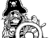 Dibuix de Capità pirata per pintar
