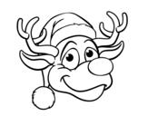 Dibujo de Cara de ren Rudolph