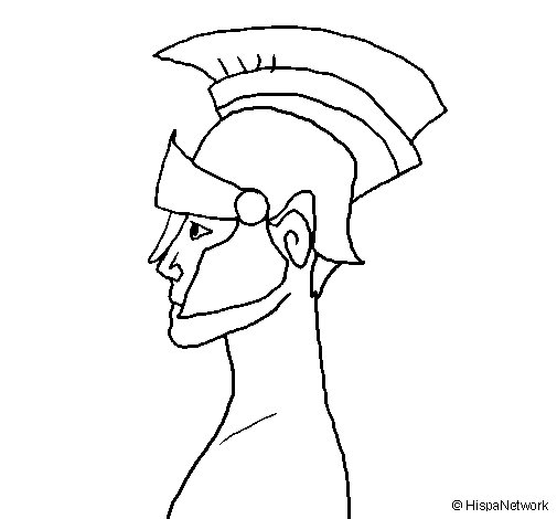 Dibuix de Casc romà per Pintar on-line