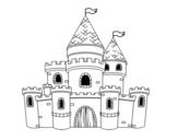 Dibuix de Castell de princeses per pintar