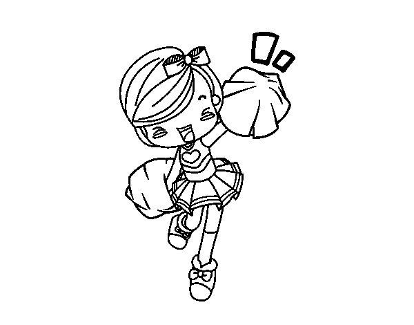 Dibuix de Cheerleader per Pintar on-line