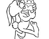 Dibujo de Conill i ou de Pasqua