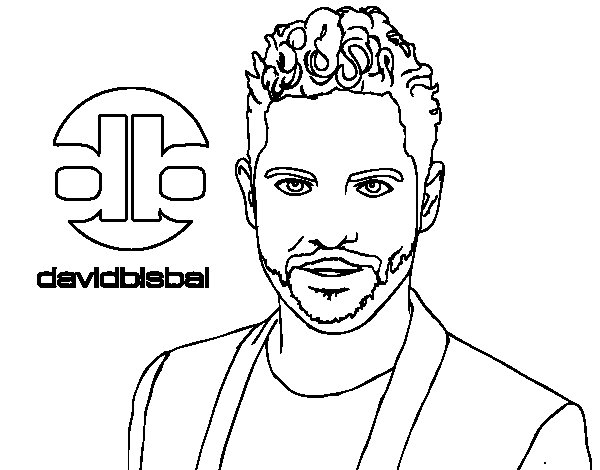 Dibuix de David Bisbal per Pintar on-line