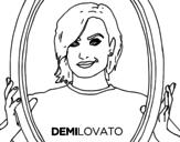 Dibujo de Demi Lovato estrella del POP