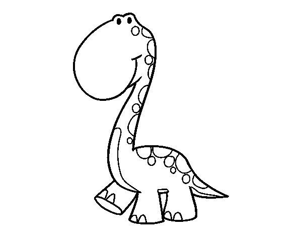 Dibuix de Dino per Pintar on-line
