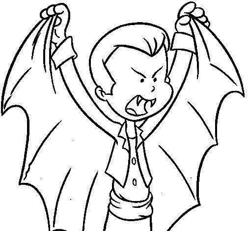 Dibuix de Draculet per Pintar on-line