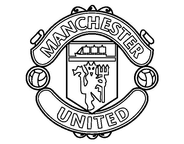 Dibuix de Escut de Manchester United FC per Pintar on-line