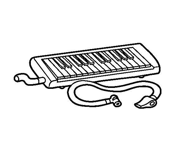 Dibuix de Flauta melòdica per Pintar on-line