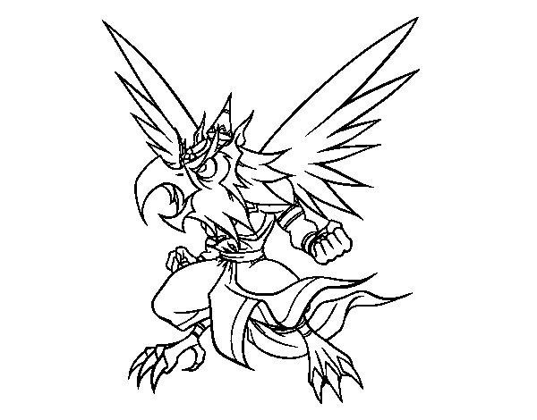 Dibuix de Garuda per Pintar on-line