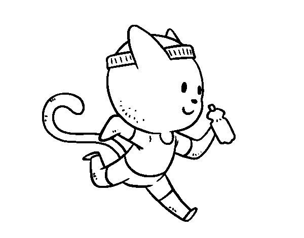 Dibuix de Gat runner per Pintar on-line