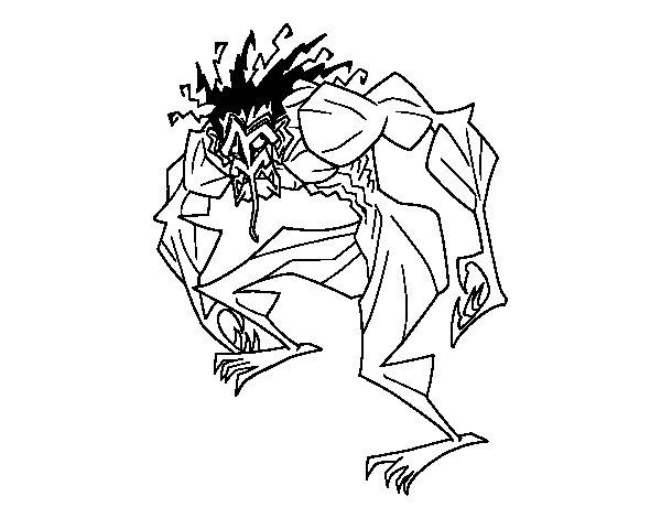 Dibuix de Home troll per Pintar on-line