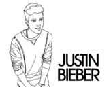 Dibuix de Justin Bieber per pintar