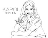 Dibuix de Karol Sevilla de Soy Luna per pintar