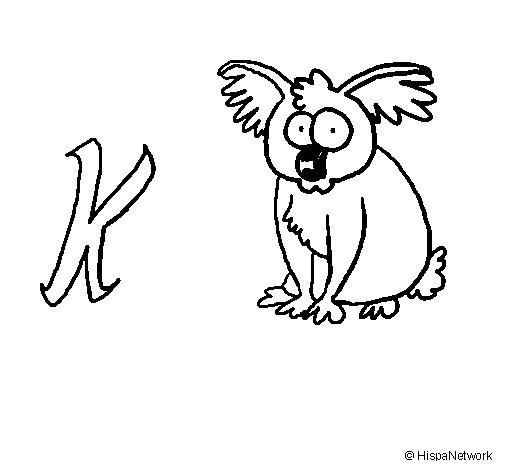 Dibuix de Koala per Pintar on-line