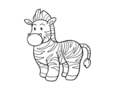 Dibujo de La zebra