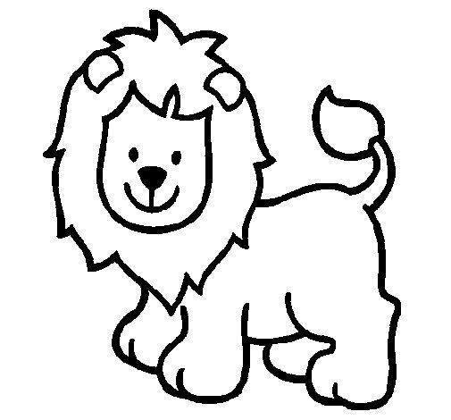 Dibuix de Lleó 3 per Pintar on-line