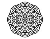 Dibuix de Mandala per a la relaxació mental per pintar