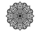 Dibuix de Mandala per la concentració per pintar
