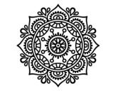 Dibuix de Mandala per relaxar per pintar