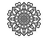 Dibuix de Mandales cors àrabs per pintar