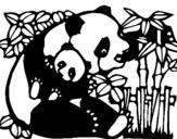 Dibuix de Mare Panda per pintar
