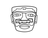 Dibujo de Màscara ancestral asteca