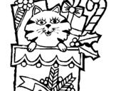 Dibuix de Mitjó amb regals per pintar