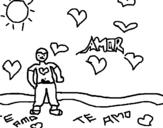 Dibuix de Noi enamorat 2 per pintar