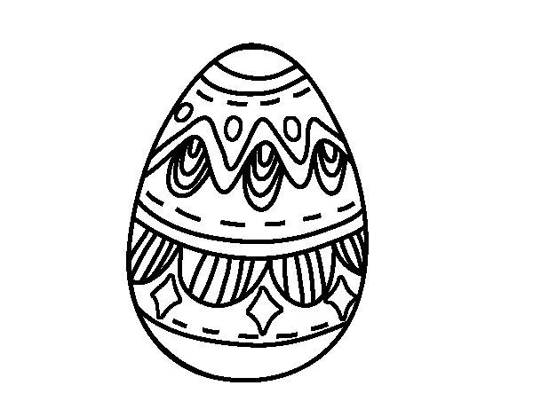 Dibuix de Ou de pasqua amb rombes per Pintar on-line