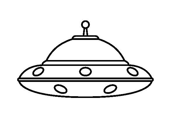 Dibuix de OVNI extraterrestre per Pintar on-line
