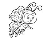 Dibuix de Papallona coqueta per pintar