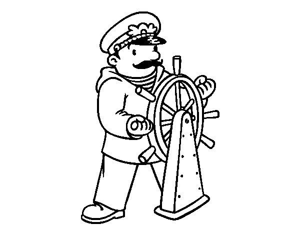 Dibuix de Patró de vaixell per Pintar on-line