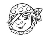 Dibuix de Pirata ras per pintar