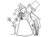 Dibuix de Prínceps recent casats per pintar