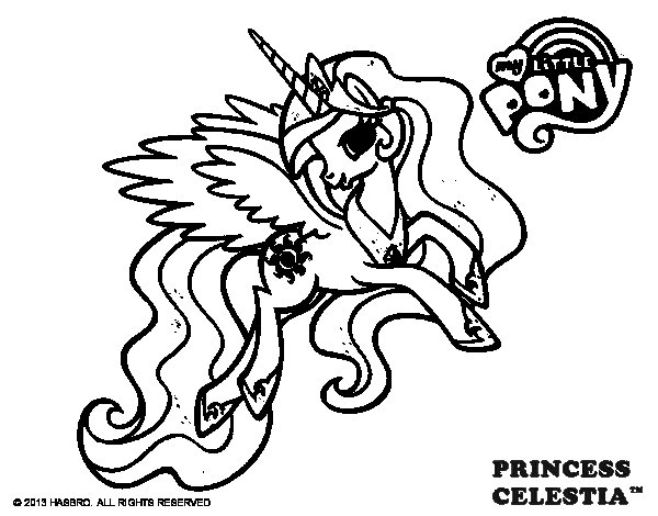 Dibuix de Princess Celestia per Pintar on-line
