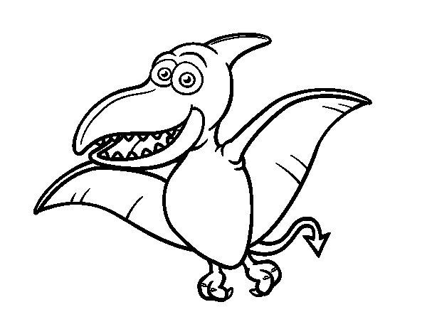Dibuix de Pterosaure per Pintar on-line
