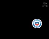 Dibuix de Samarreta del mundial de futbol 2014 de Xile per pintar