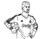 Dibuix de Sergio Ramos del Reial Madrid per pintar