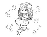 Dibuix de Sirena pentinant-se per pintar