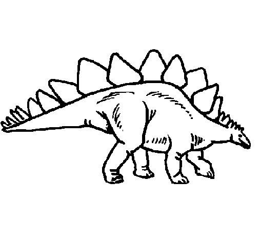 Dibuix de Stegosaurus per Pintar on-line