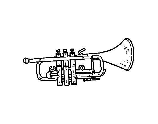 Dibuix de Trompeta baixa per Pintar on-line