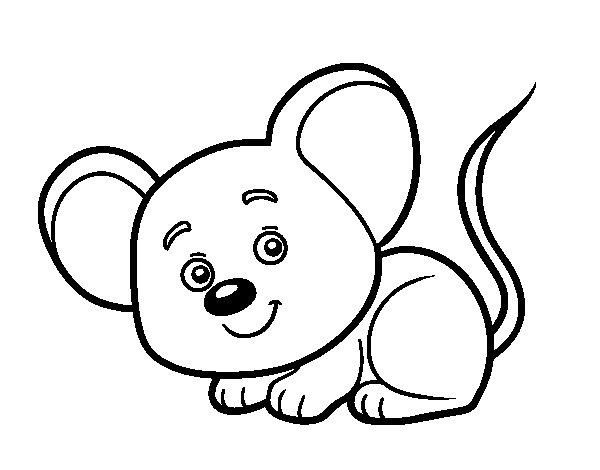 Dibuix de Un ratolí per Pintar on-line