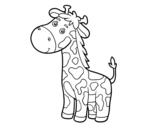 Dibuix de Una girafa per pintar